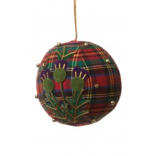 Tartan and Thistle Christmas Bauble
