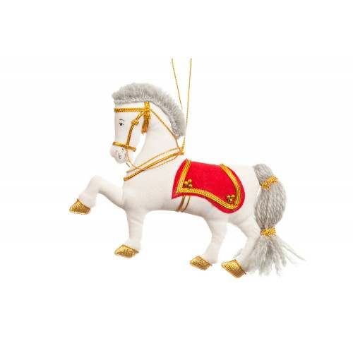 Napoleonic Horse Christmas Tree Decoration