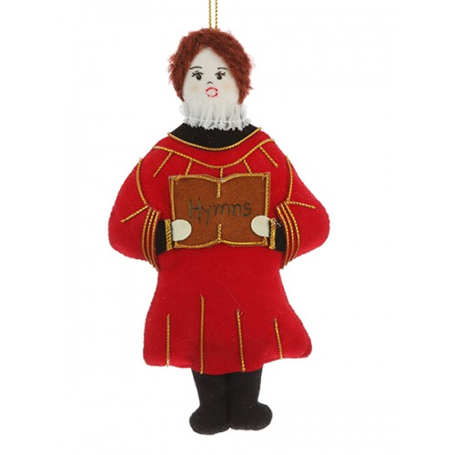 Choirboy with Red Cassock Christmas Tree  Decoration