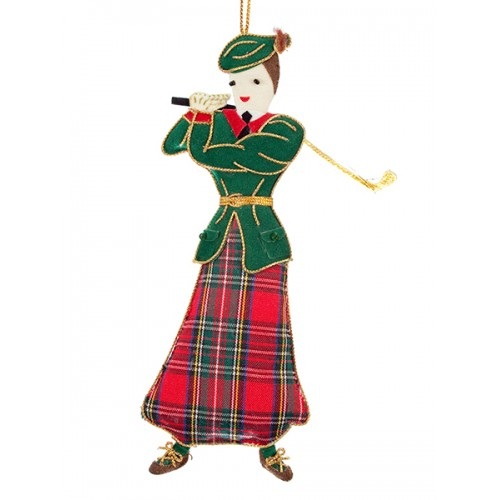Lady Golfer Scottish Christmas Decoration