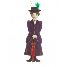 Edwardian Lady Christmas Tree Decoration