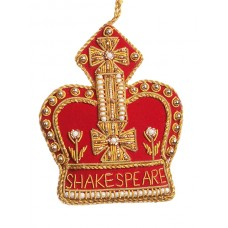 Red and Gold Shakespeare Crown Ornament