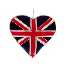 Small Union Jack Heart  Christmas Decoration