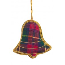 Tartan Bell  Christmas Ornament