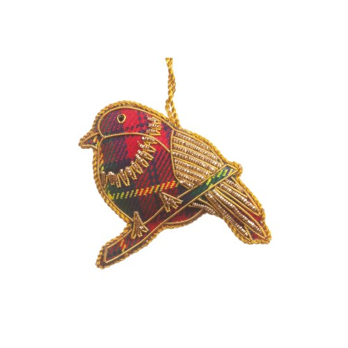 Scottish Christmas Robin Decoration
