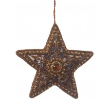 Navy Lace Star Christmas Ornamant