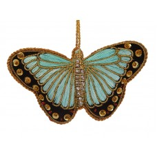 Turquoise Satin Butterfly Decoration