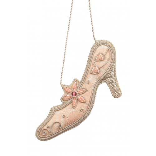 Pale Pink Prom Shoe Ornament