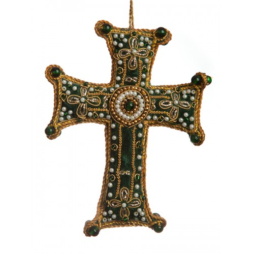Large Green Cross Decoration
