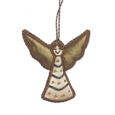 Small Satin Angel with Scallop Wings