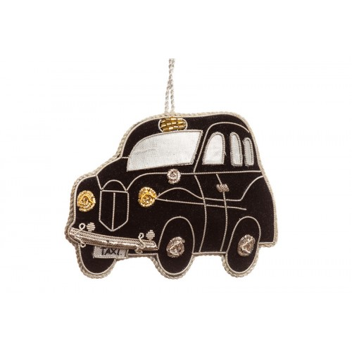 Velvet Taxi Christmas Tree Decoration