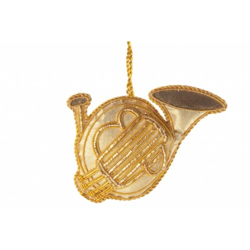 French Horn Christmas Tree Decoration