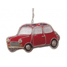 Classic Red Mini Car Christmas Decoration