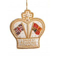 Longest Reigning Monarch Crown Christmas Tree Decoration