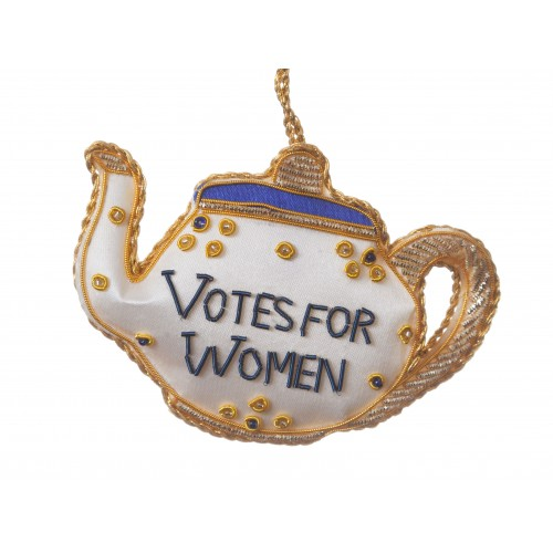 Votes for Women Tea Pot Christmas Tree Decoration